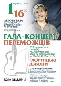 1 грудня - гала-концерт переможцiв конкурсу